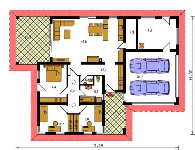 Rodinný dom Bungalow 152