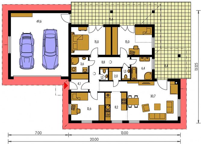 Rodinný dom Bungalow 192