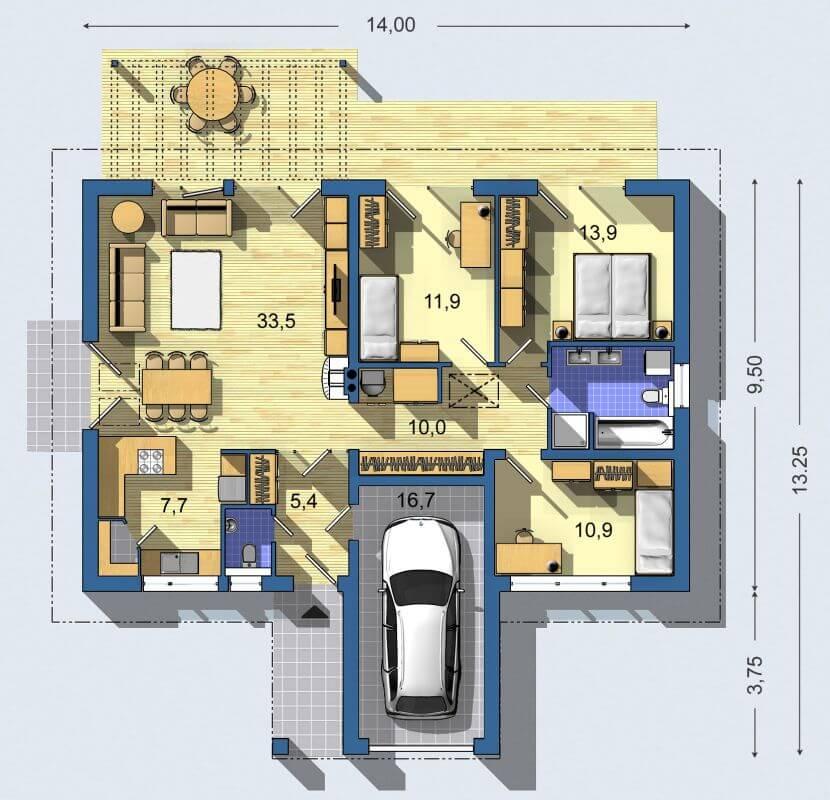 Rodinný dom Bungalov 769