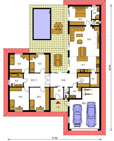 Rodinný dom Bungalow 217