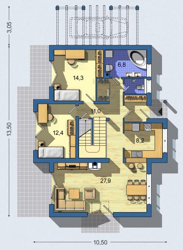 Rodinný dom Bungalov 669