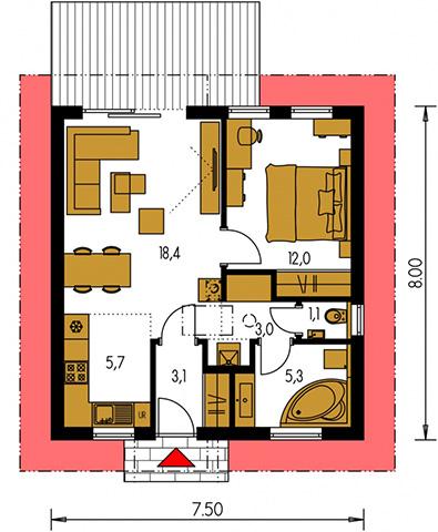 Rodinný dom Bungalow 219