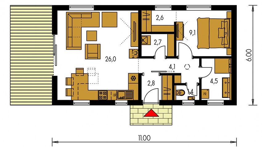 Rodinný dom Bungalow 220