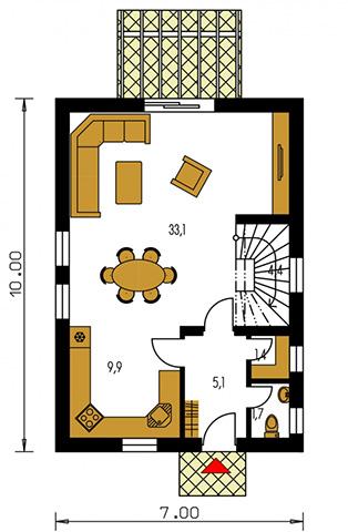 Rodinný dom Kompakt 35