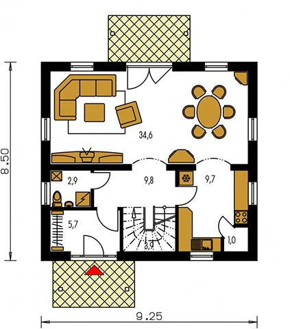 Rodinný dom Kompakt 40
