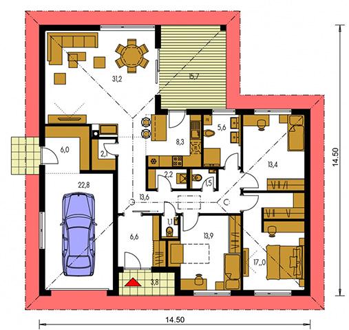 Rodinný dom Bungalow 222