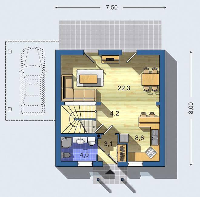 Rodinný dom Aktual 421