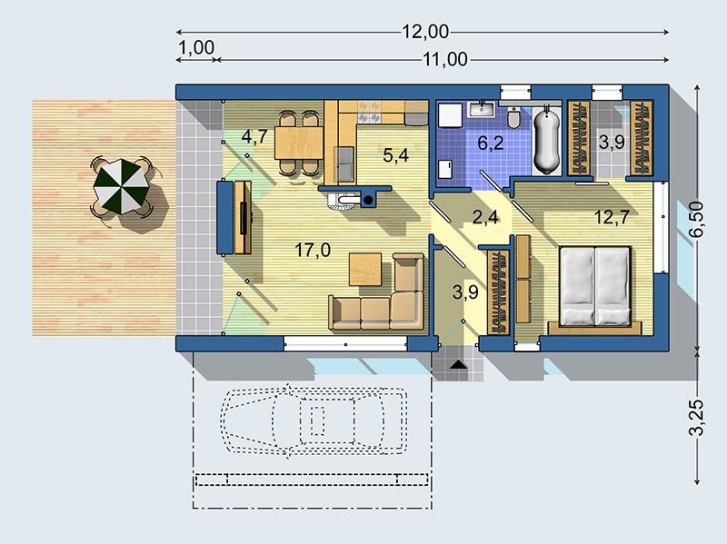 Rodinný dom Bungalov S 1408