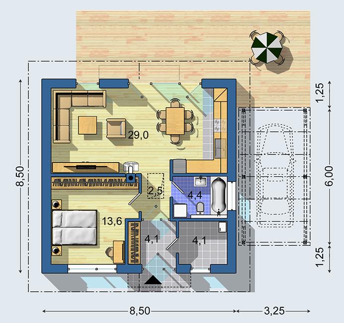 Rodinný dom Bungalov S 1410