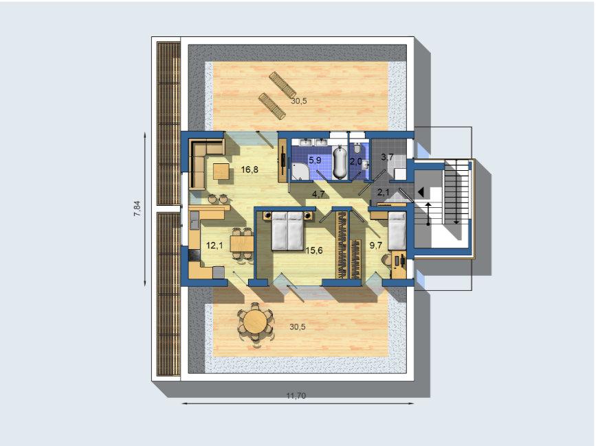 Rodinný dom Trial 1701