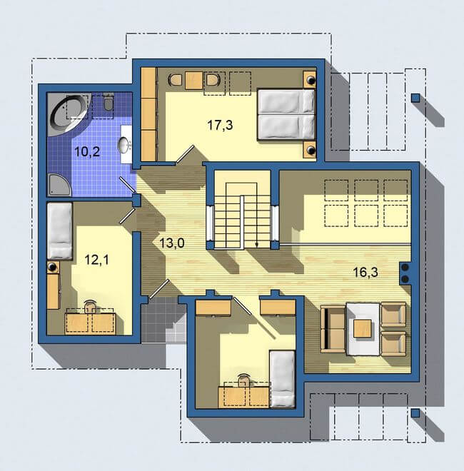 Rodinný dom Komfort 136